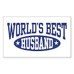 World's Best Husband Rectangle Sticker