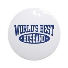 World's Best Husband Ornament (Round)