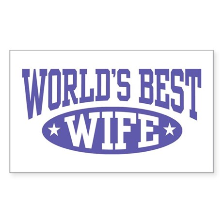 World's Best Wife Rectangle Sticker