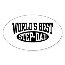 World's Best Step Dad Oval Decal