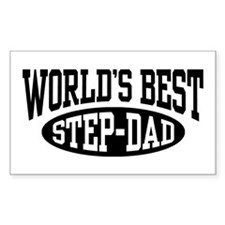 World's Best Step Dad Rectangle Decal
