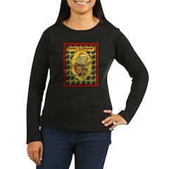 EDDIE ELEPHANT Women's Long Sleeve Dark T-Shirt