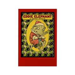 EDDIE ELEPHANT Rectangle Magnet (100 pack)