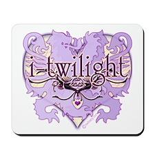 i-twilight lion crest heart Mousepad