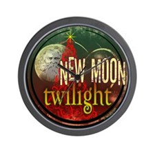 New Moon Santa Moon Wall Clock