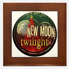 New Moon Santa Moon Framed Tile