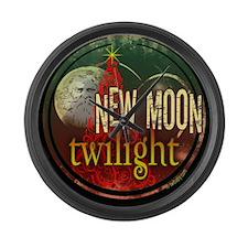 New Moon Santa Moon Large Wall Clock