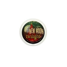 New Moon Santa Moon Mini Button