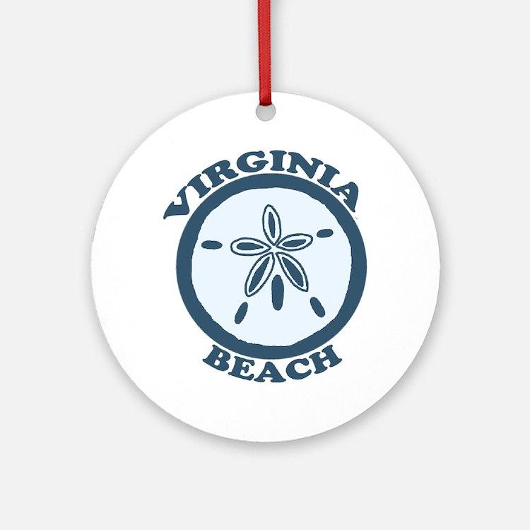 Virginia Beach VA - Sand Dollar Design Ornament (R