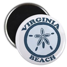 Virginia Beach VA - Sand Dollar Design Magnet