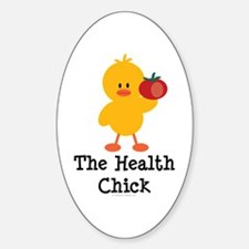 The Health Chick Oval Decal