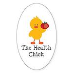 The Health Chick Oval Sticker (10 pk)