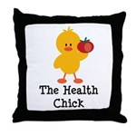 The Health Chick Throw Pillow