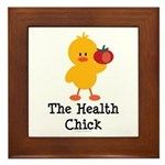 The Health Chick Framed Tile