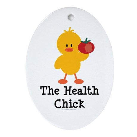 The Health Chick Oval Ornament