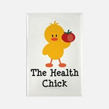 The Health Chick Rectangle Magnet
