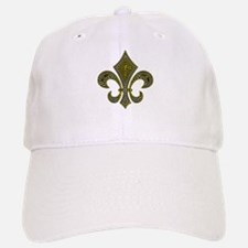 Fleur-de-lis Mosaic Gold Baseball Baseball Cap
