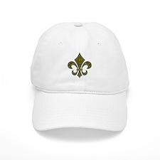 Fleur-de-lis Mosaic Gold Baseball Cap