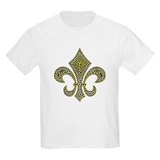 Fleur-de-lis Mosaic Gold T-Shirt