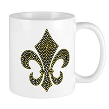 Fleur-de-lis Mosaic Gold Mug