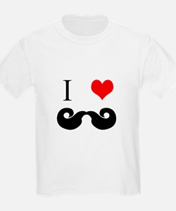 I Love Curly Mustaches T-Shirt