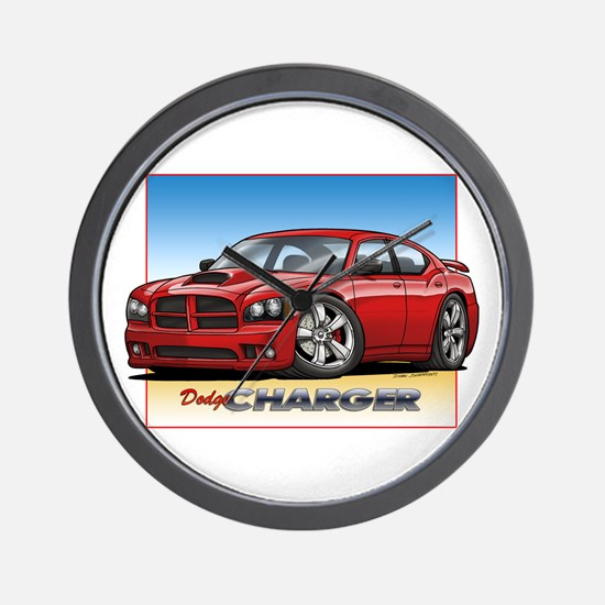 Red Dodge Charger Wall Clock