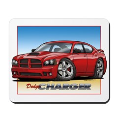 Red Dodge Charger Mousepad