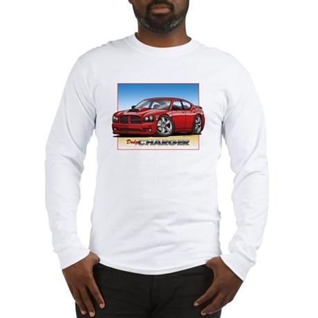 Red Dodge Charger Long Sleeve T-Shirt