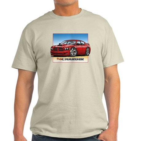 Red Dodge Charger Light T-Shirt