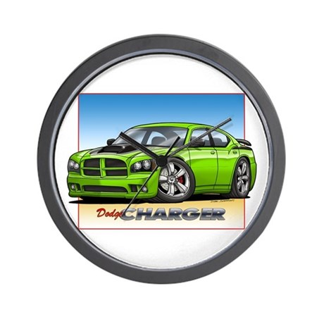 sublime green charger wall clock by grapeapedesign