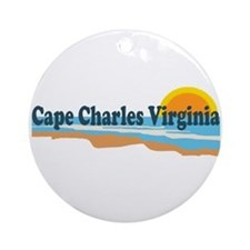 Cape Charles VA - Beach Design Ornament (Round)