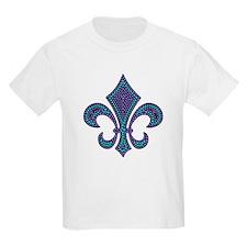 Fleur-de-lis Mosaic Purblue T-Shirt