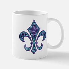 Fleur-de-lis Mosaic Purblue Mug