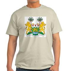 Sierra Leone Coat Of Arms Ash Grey T-Shirt