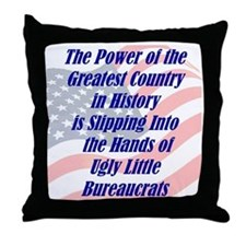 Ugly Little Bureaucrats Throw Pillow