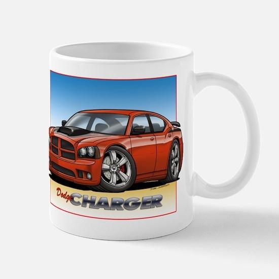 Orange Dodge Charger Mug