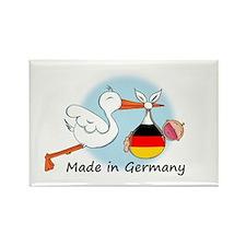 Stork Baby Germany Rectangle Magnet