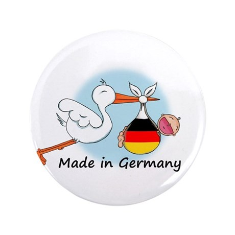 "Stork Baby Germany 3.5"" Button"