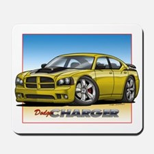 Yellow Dodge Charger Mousepad