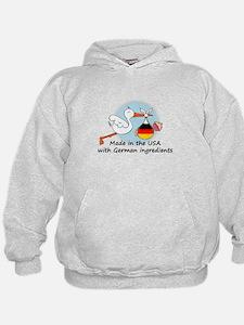 Stork Baby Germany USA Hoodie
