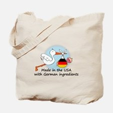 Stork Baby Germany USA Tote Bag