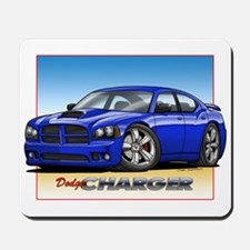 Blue Dodge Charger Mousepad