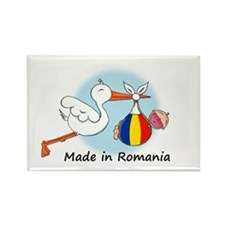 Stork Baby Romania Rectangle Magnet