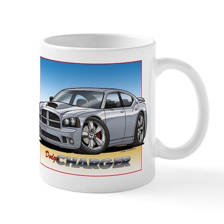 Silver Dodge Charger Mug