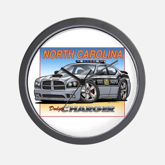 NC State Trooper Charger Wall Clock