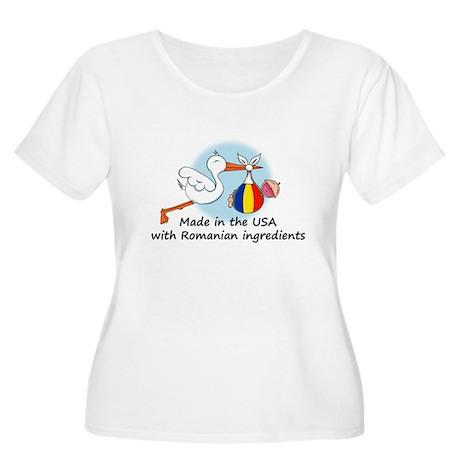 Stork Baby Romania USA Women's Plus Size Scoop Nec