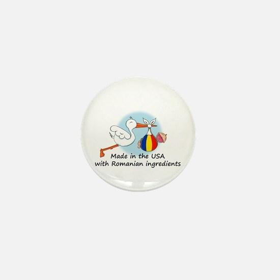 Stork Baby Romania USA Mini Button