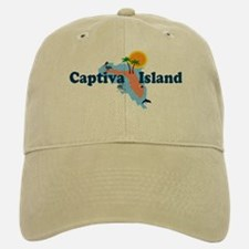 Baseball Baseball Captiva Island FL - Map Design Baseball Baseball Cap