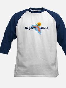 Captiva Island FL - Map Design Kids Baseball Jerse
