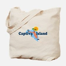 Captiva Island FL - Map Design Tote Bag